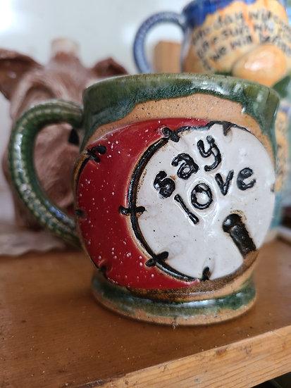 Say Love Kick Drum Mug