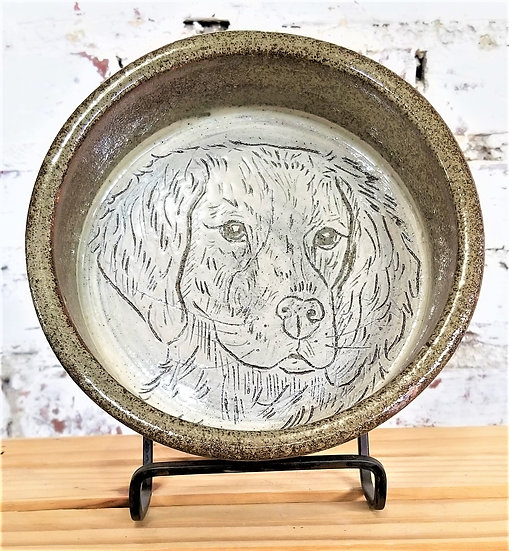 PK Pottery Dog bowl