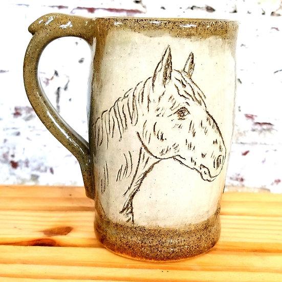 PK Pottery Horse Mug