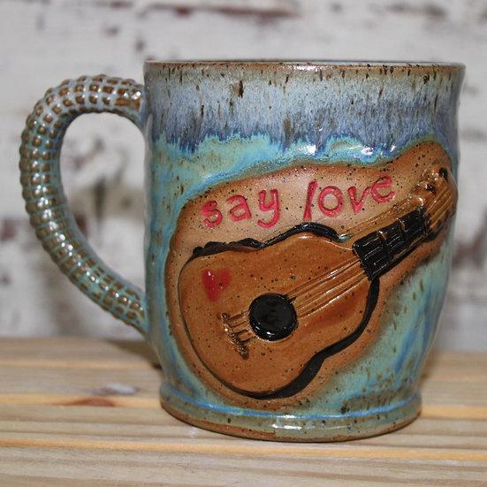 Guitar Say Love Mug
