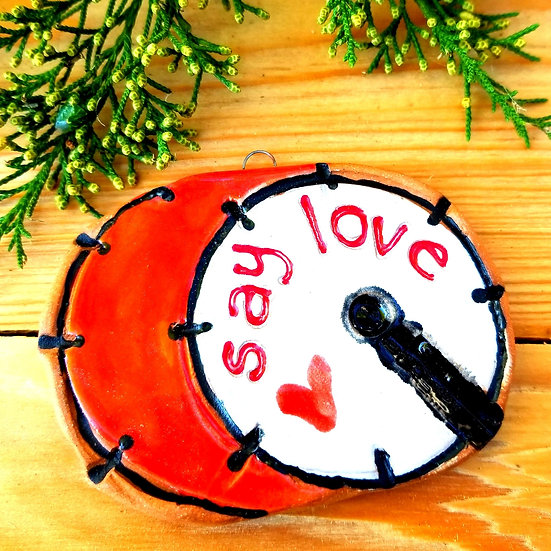 Say Love KickDrum Ornaments