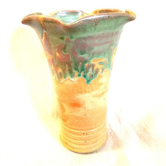 """MPeddicord Fluted Edge Vase 8"""""""