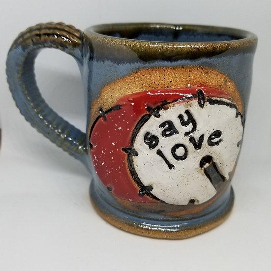 Kick Drum Say Love Mug
