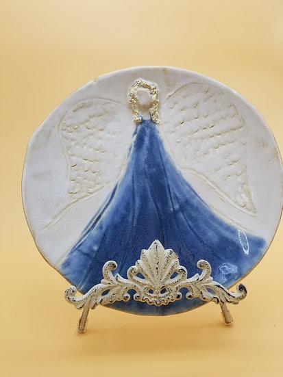B Pullon Round Angel Platter