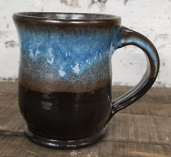 P Bowers Blue/Brown Mug