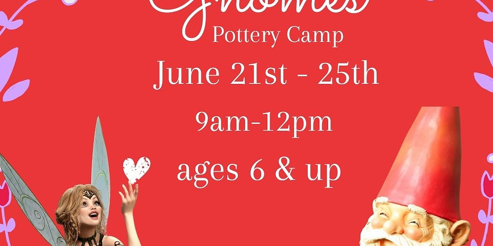 Fun Fairies & Gnomes Pottery Camp