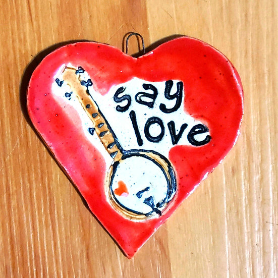 Say Love Heart Ornament