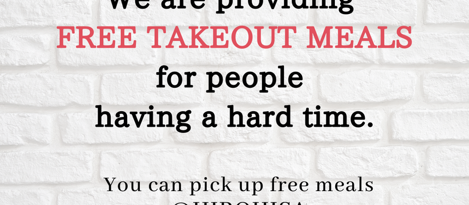 3/20 Fri, We are providing free meals for people having a hard time.