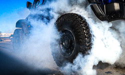 SRT Jeep Wrangler Burnout