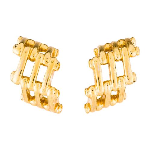 Fendi Vintage Link Clip-On Earrings