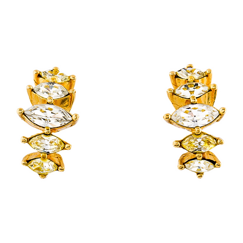 Christian Dior Vintage Crystal Clip-On Earrings