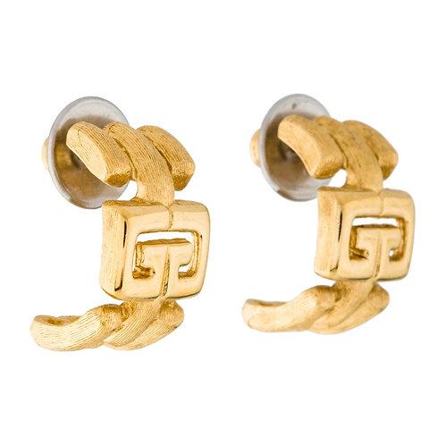 Givenchy vintage logo hoop earrings