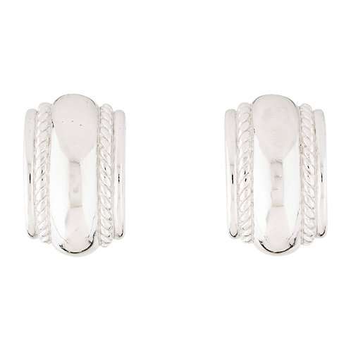 Christian Dior vintage silver-toned clip-on earrings