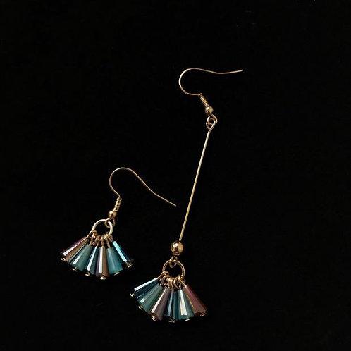 Asymmetrical drop earrings