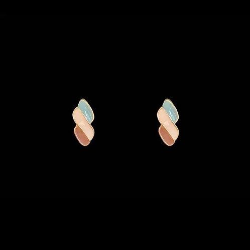 Tri-coloured icecream-toned earrings