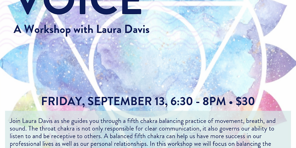Find your Voice: A Workshop with Laura Davis