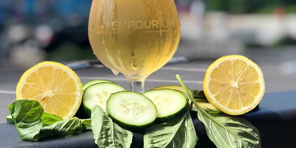 "First Friday Beer Release ""Solenya"" Cucumber Basil Kettle Sour"