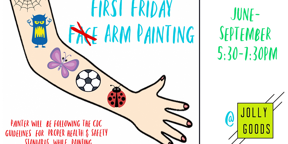 First Friday Arm Painting-Jolly Goods