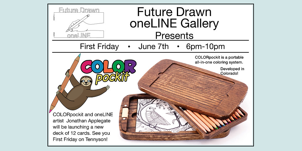 First Friday-oneLINE Gallery Presents- COLORpockit Launch