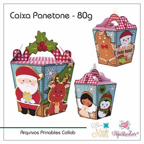 CAIXA PARA MINI PANETONE - 80g