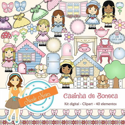 CASINHA DE BONECA - CLIPART
