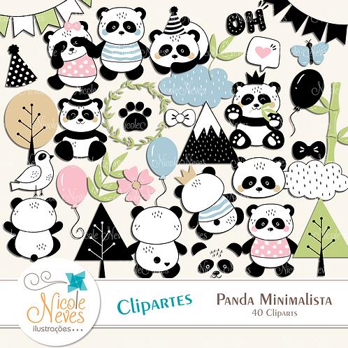 PANDA MINIMALISTA - CLIPART