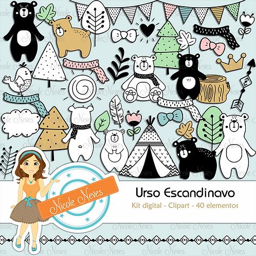 URSO ESCANDINAVO - CLIPARTS