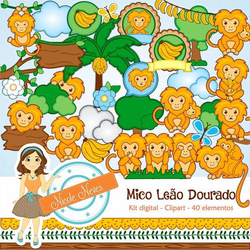 MICO LEÃO DOURADO - CLIPART
