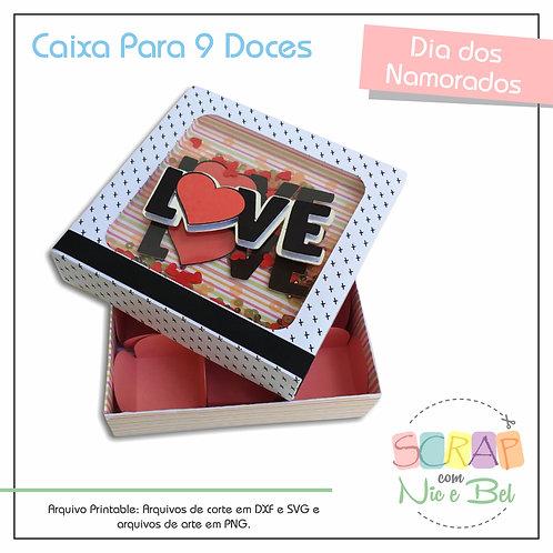 CAIXA PARA 9 DOCES NAMORADOS - PRINTABLES
