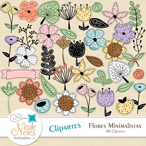 FLORES MINIMALISTA - CLIPART
