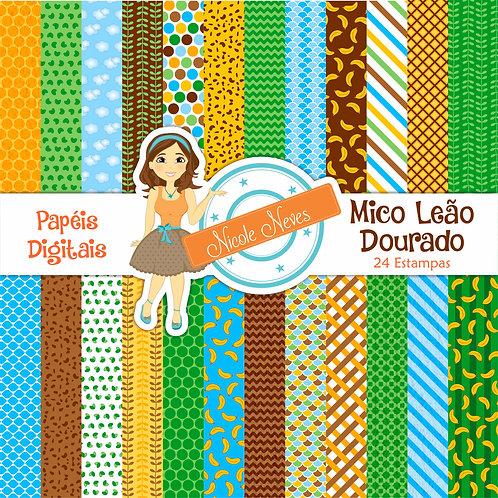 MICO LEÃO DOURADO - PAPÉIS DIGITAIS
