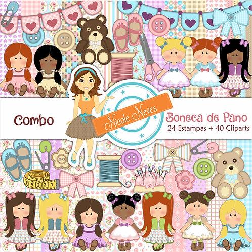 BONECA DE PANO - COMBO