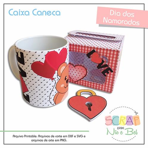 CAIXA CANECA NAMORADOS - PRINTABLE