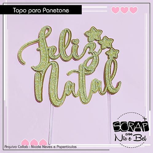 TOPO DE PANETONE NATAL CUTE - PRINTABLE