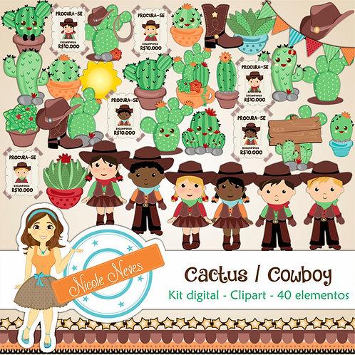 CACTUS / COWBOY - CLIPARTS
