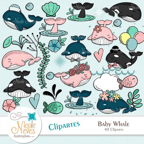 BABY WHALE  - CLIPART