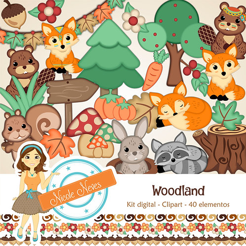 WOODLAND - CLIPARTS
