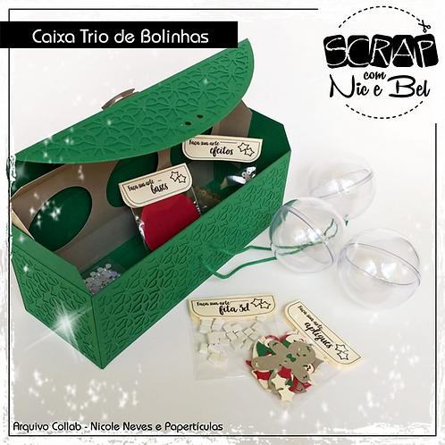 CX TRIO DE BOLINHAS NATAL CLÁSSICO - PRINTABLE