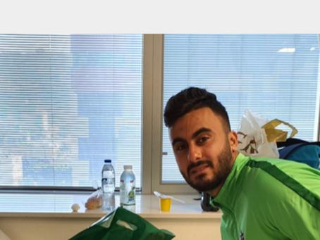 ביקור שחקני מכבי חיפה במחלקה האונקולוגית