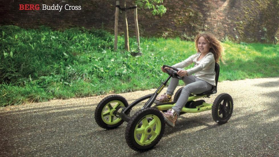 Carro a pedais BERG Buddy Cross para crianças entre os 3 e os 8 anos