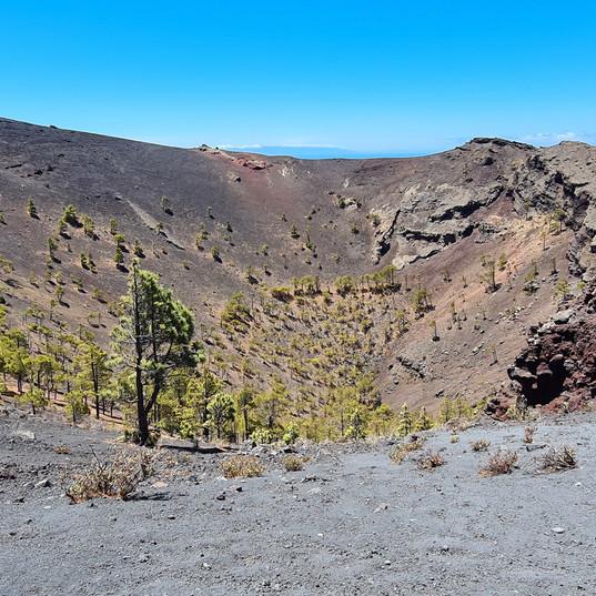 krater van vulkaan San Antonio