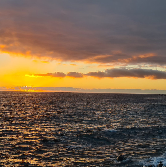 zonsondergang bij Puerto de Tazacorte