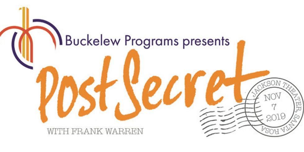 Buckelew Programs Presents Frank Warren & Post Secret