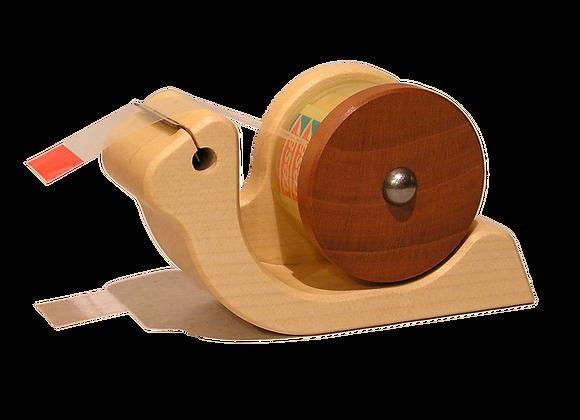 """Klebefilmabroller """"Schnecke"""" aus Holz"""