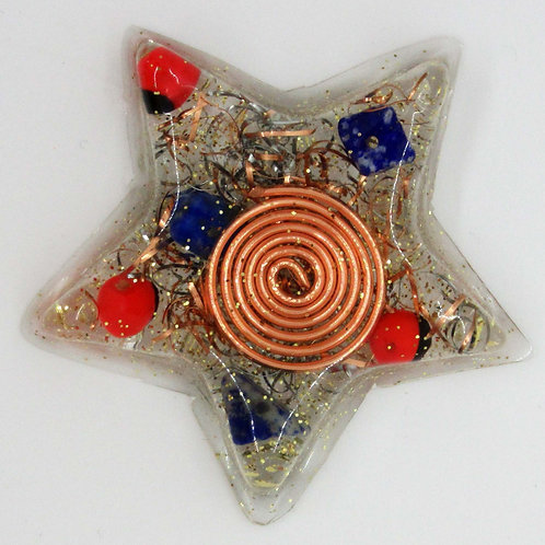 Huayruro Seeds and Lapis Lazuli Star
