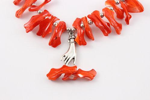 Orange Coral Necklace