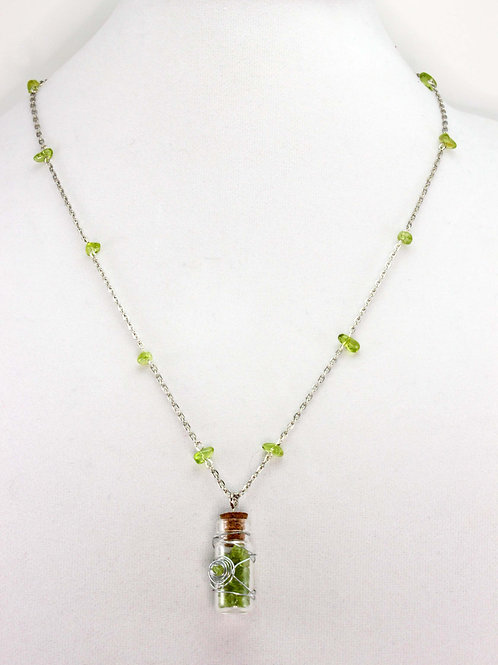 Peridot Magical Bottle Necklace