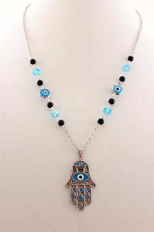 Hamsa & Evil Eye Necklace