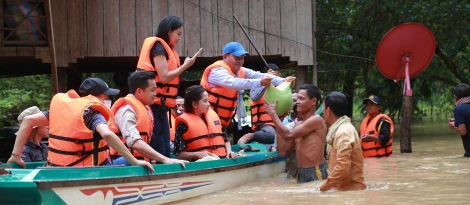 Cambodge & Inondations : Les secours et la solidarité en première ligne