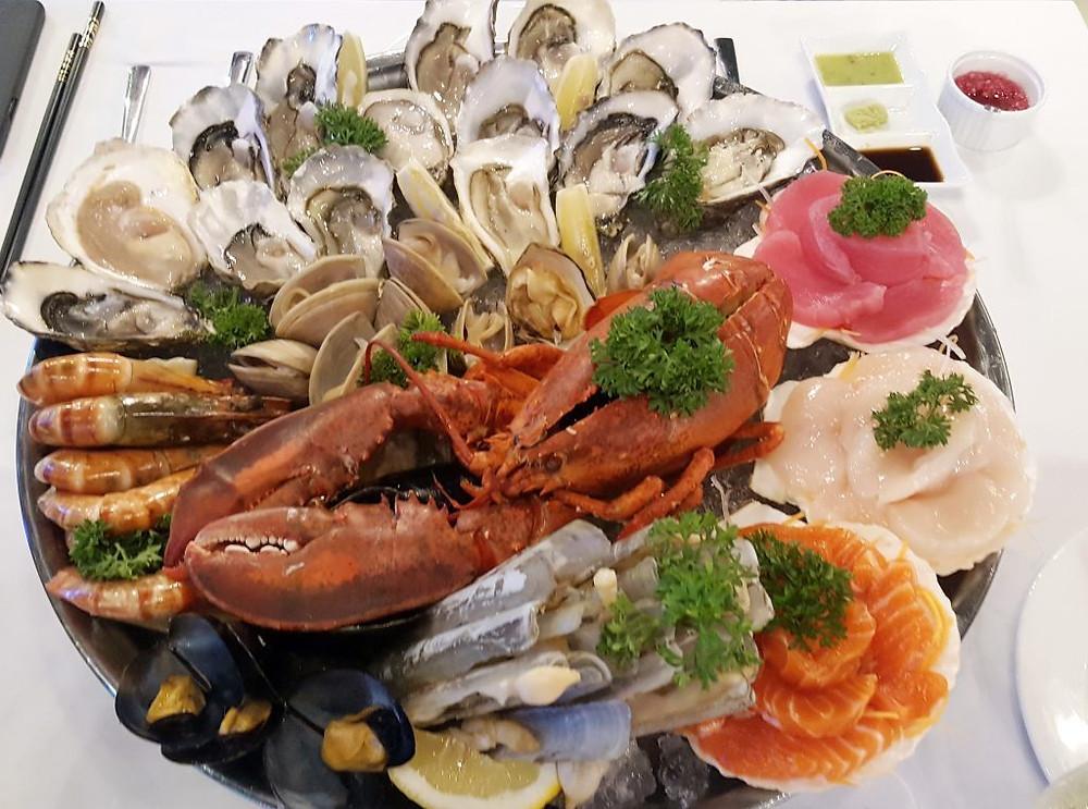Tour de table -The Dock :Plateau de fruits de mer
